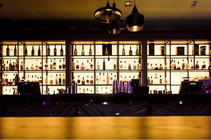 Lexington bar by night.